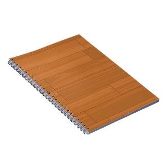 Wood Parquet Floor Pattern Notebook