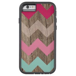 Wood pastel chevron zigzag zig zag pattern chic iPhone 6 case