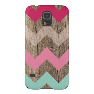 Wood pastel chevron zigzag zig zag pattern chic case for galaxy s5
