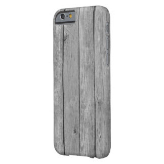 Wood Pattern Look Dark Grey Barely There iPhone 6 Case