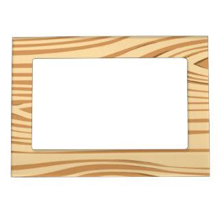 Wood pattern magnetic frame