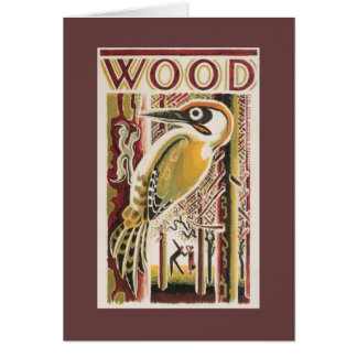 Wood Pecker Deco Card