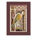 Wood Pecker Deco Greeting Card