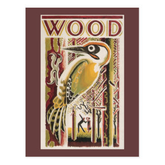 Wood Pecker Deco Postcard