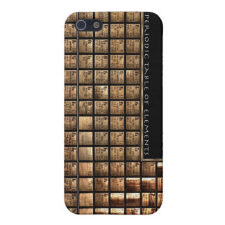 Wood periodic Table of Elements Cover For iPhone SE/5/5s
