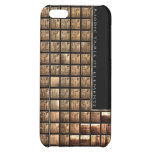 Wood periodic Table of Elements iPhone 5C Covers