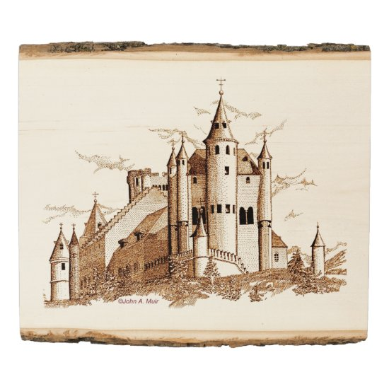 Wood Photo Panel - Castle in Spain