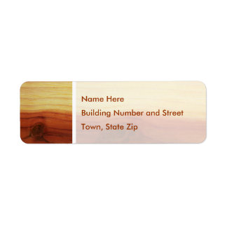 Wood Picture Label
