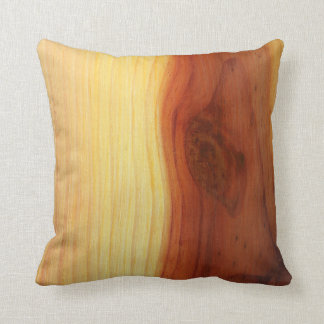 Wood Picture Throw Pillow