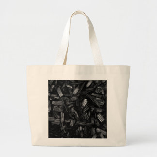 Wood pieces in black and white. canvas bags