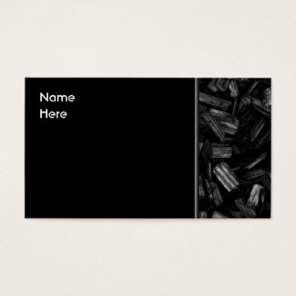 Wood pieces in black and white. business card