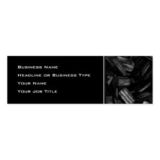 Wood pieces in black and white. business cards