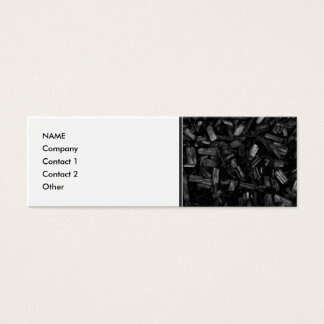 Wood pieces in black and white. mini business card