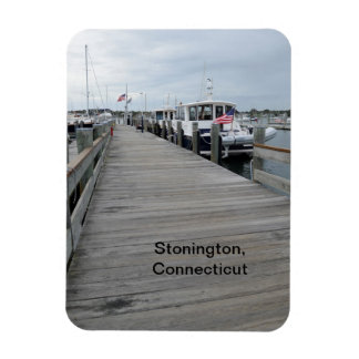 wood pier in Stonington, Connecticut Rectangular Photo Magnet