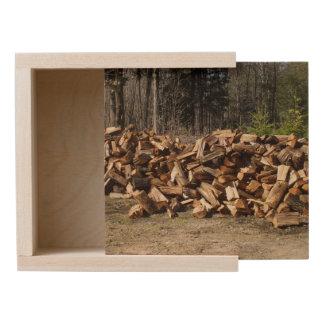 Wood Pile Wooden Keepsake Box