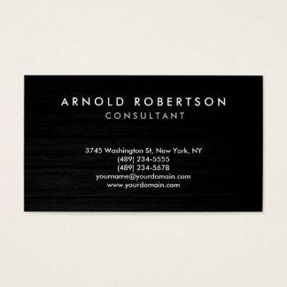 Wood Plain Gray Professional Business Card