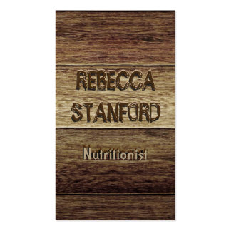 Wood Plank Background Business Card