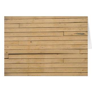 Wood Plank Blank Note Card