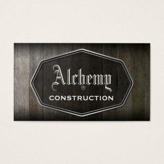 Wood Plank Construction Business Card