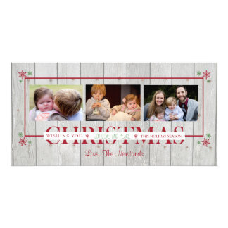 Wood Plank Merry Christmas Card