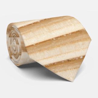 Wood plank stripes pattern tie