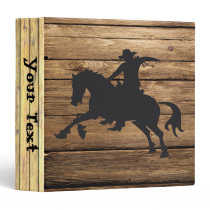 Wood Planks and Bucking Horse Binder