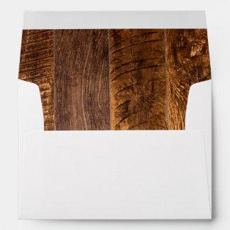 Wood planks envelope