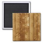 Wood planks fridge magnets
