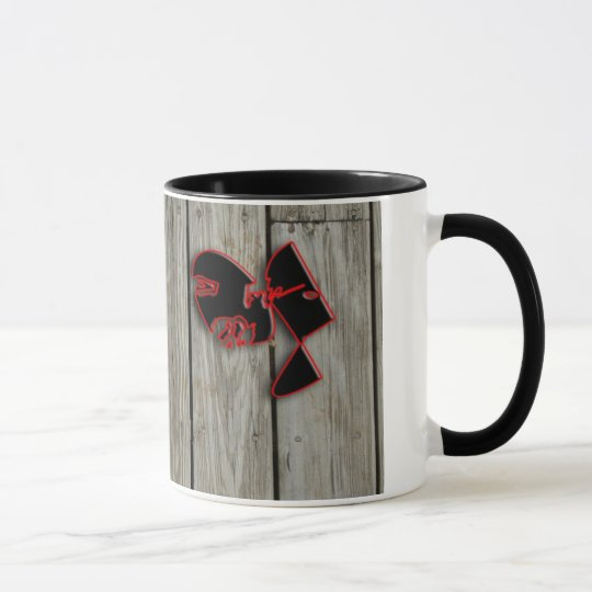 wood planks mug