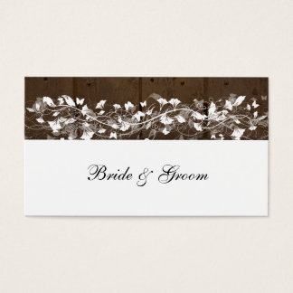 Wood Planks Place Cards