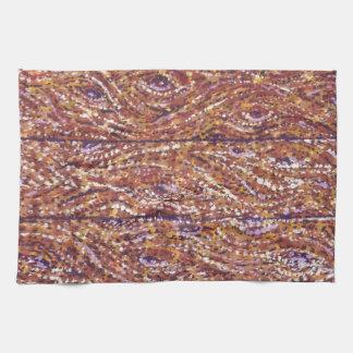 Wood Planks Pointillism American MoJo Kitchen Towe Towel