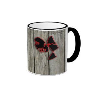 wood planks ringer mug