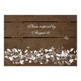 """Wood Planks rsvps with envelopes 3.5"""" X 5"""" Invitation Card"""