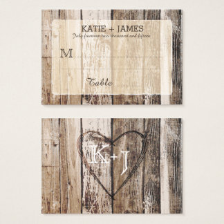 Wood Planks Rustic Country Wedding Place Cards