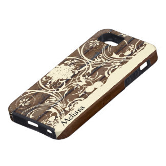 Wood Planks, Shabby Cream Lace Country iPhone 5 Cases