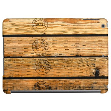 """USA Themed Wood Planks Stamped with """"Made in USA"""" iPad Air Case"""