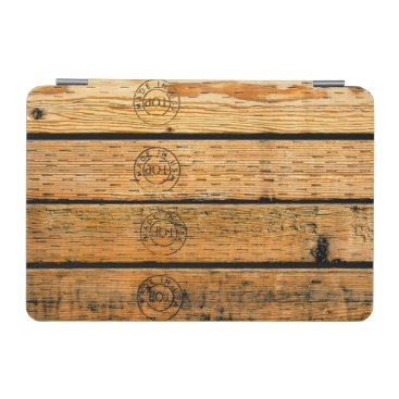 """USA Themed Wood Planks Stamped with """"Made in USA"""" iPad Mini Cover"""