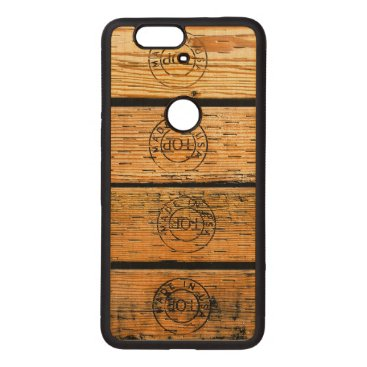 """USA Themed Wood Planks Stamped with """"Made in USA"""" Wood Nexus 6P Case"""