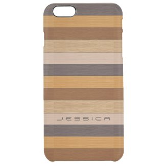 Wood Planks Stripes Uncommon Clearly™ Deflector iPhone 6 Plus Case