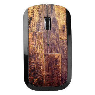 Wood planks wireless mouse