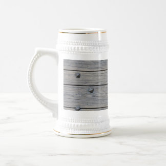Wood planks with square nails texture that perfect beer stein