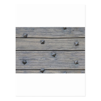 Wood planks with square nails texture that perfect post card
