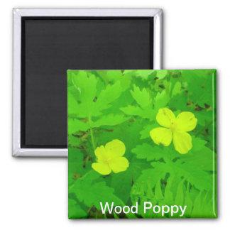 Wood Poppy Magnet