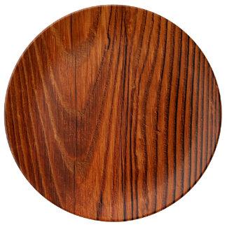 Wood Porcelain Plate