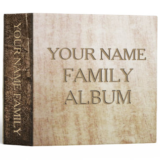 Wood Print Family Album Custom Binder