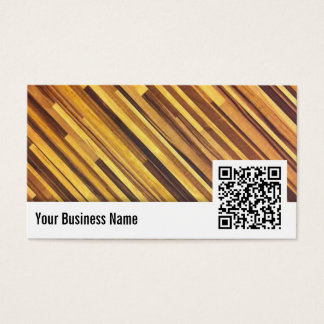 Wood QR Code Family Practitioner Business Card