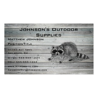 Wood Racoon Outdoor Supply Business Card