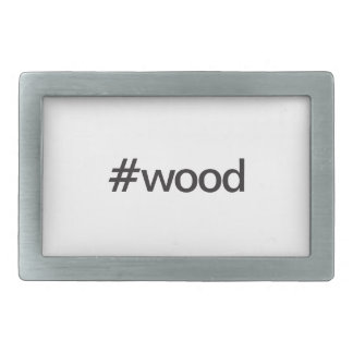 wood rectangular belt buckles