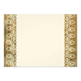 """Wood Rings Country Elegance Thank You Notes 4.5"""" X 6.25"""" Invitation Card"""