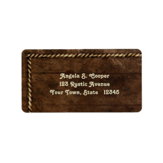 Wood, Rope Border Labels